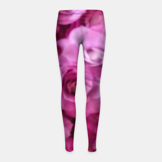 Thumbnail image of happy florals  giving  peace and great feelings Girl's leggings, Live Heroes