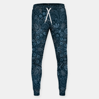 Miniature de image de Blueberry Field Watercolor Pattern Sweatpants, Live Heroes