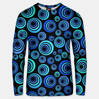 Thumbnail image of Blue Retro Pattern Unisex sweater, Live Heroes