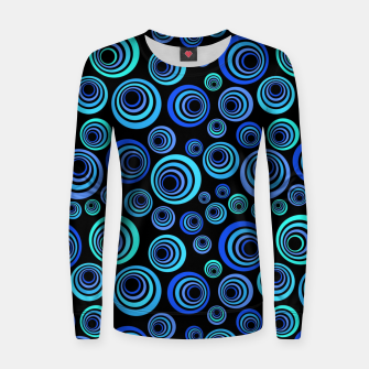 Thumbnail image of Blue Retro Pattern Women sweater, Live Heroes