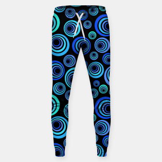 Thumbnail image of Blue Retro Pattern Sweatpants, Live Heroes