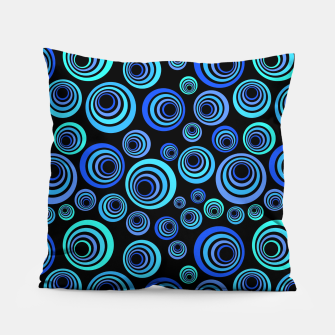 Thumbnail image of Blue Retro Pattern Pillow, Live Heroes