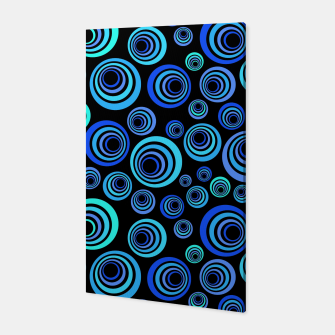 Thumbnail image of Blue Retro Pattern Canvas, Live Heroes