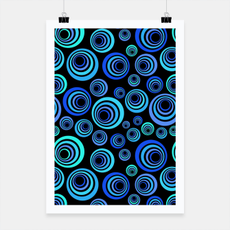 Thumbnail image of Blue Retro Pattern Poster, Live Heroes