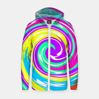 Thumbnail image of Boomba Spiral Purple Zip-Up Hoodie, Live Heroes