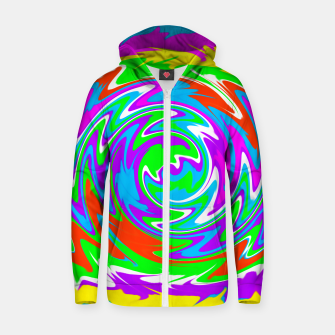 Thumbnail image of Boomba Spiral Green Zip-Up Hoodie, Live Heroes