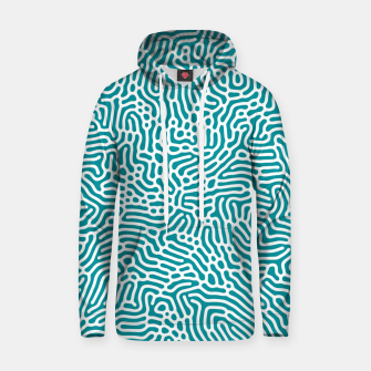 Thumbnail image of Turquoise Organic Pattern Hoodie, Live Heroes