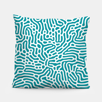 Thumbnail image of Turquoise Organic Pattern Pillow, Live Heroes
