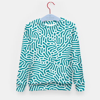 Thumbnail image of Turquoise Organic Pattern Kid's sweater, Live Heroes