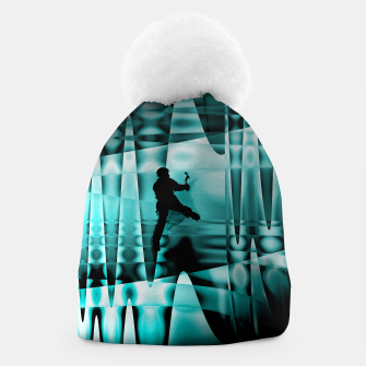Thumbnail image of climbing the frozen waterfall beanie, Live Heroes