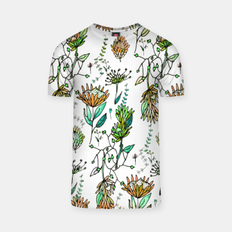 Thumbnail image of Protea Flower Orange T-shirt, Live Heroes