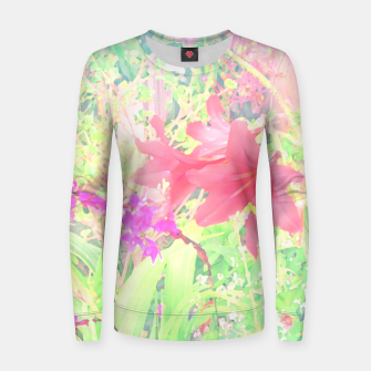 Thumbnail image of Red lilies in the garden Women sweater, Live Heroes
