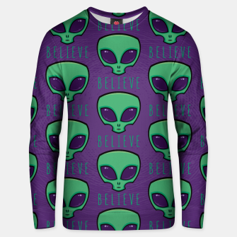 Thumbnail image of Believe Alien Head Pattern Unisex sweater, Live Heroes