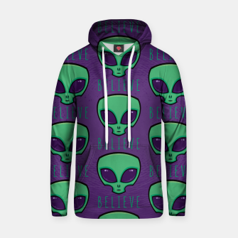 Thumbnail image of Believe Alien Head Pattern Hoodie, Live Heroes