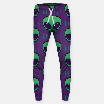 Thumbnail image of Believe Alien Head Pattern Sweatpants, Live Heroes