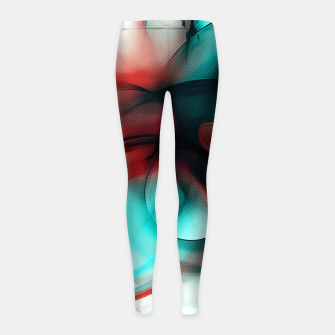 Thumbnail image of abstract fractals 1x1 reac2si Girl's leggings, Live Heroes
