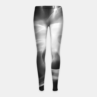 Thumbnail image of abstract fractals 1x1 reacbw Girl's leggings, Live Heroes