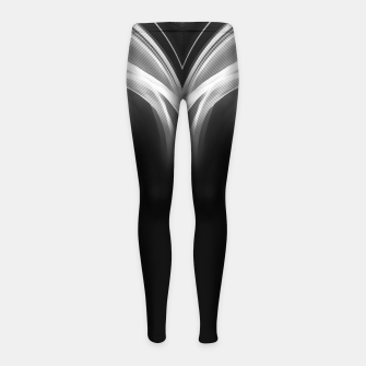 Thumbnail image of abstract fractals mirrored reacbw Girl's leggings, Live Heroes