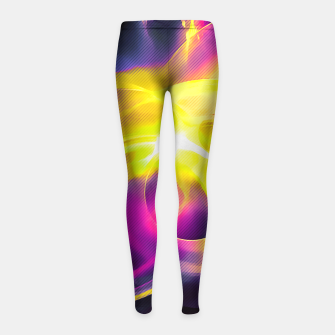 Thumbnail image of abstract fractals 1x1 reaclsh Girl's leggings, Live Heroes