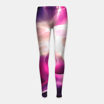 Thumbnail image of abstract fractals 1x1 reacmag Girl's leggings, Live Heroes