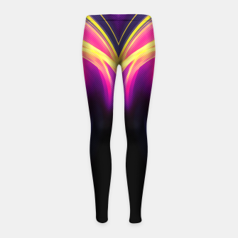 Thumbnail image of abstract fractals mirrored reaclsh Girl's leggings, Live Heroes