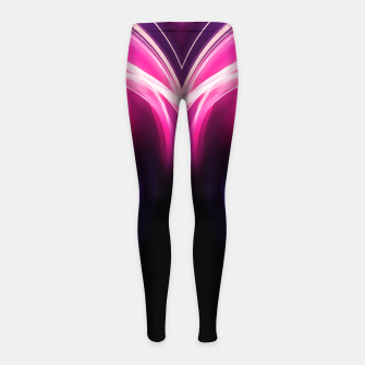 Thumbnail image of abstract fractals mirrored reacmag Girl's leggings, Live Heroes