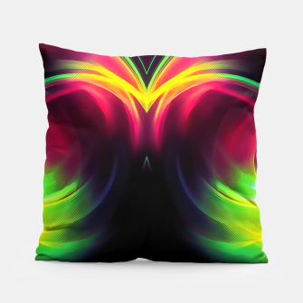Thumbnail image of abstract fractals mirrored reacstd Pillow, Live Heroes