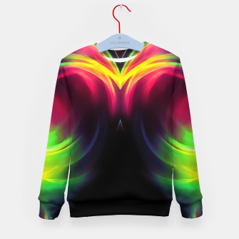 Thumbnail image of abstract fractals mirrored reacstd Kid's sweater, Live Heroes