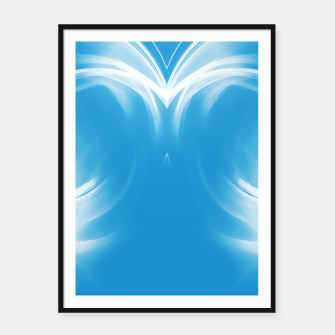 Thumbnail image of abstract fractals mirrored reacwb Framed poster, Live Heroes