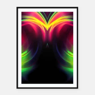 Thumbnail image of abstract fractals mirrored reacstd Framed poster, Live Heroes