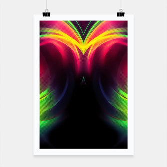 Thumbnail image of abstract fractals mirrored reacstd Poster, Live Heroes