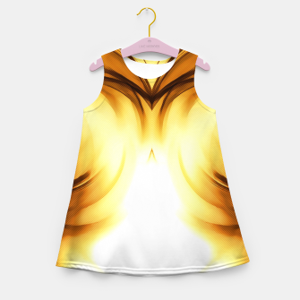 Thumbnail image of abstract fractals mirrored reacc80c82i Girl's summer dress, Live Heroes
