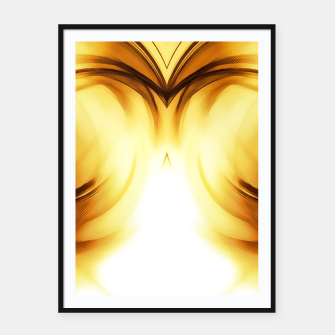 Thumbnail image of abstract fractals mirrored reacc80c82i Framed poster, Live Heroes