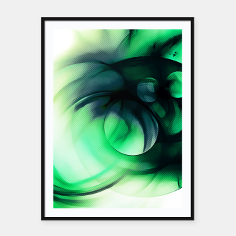 Thumbnail image of abstract fractals 1x1 reacmagi Framed poster, Live Heroes
