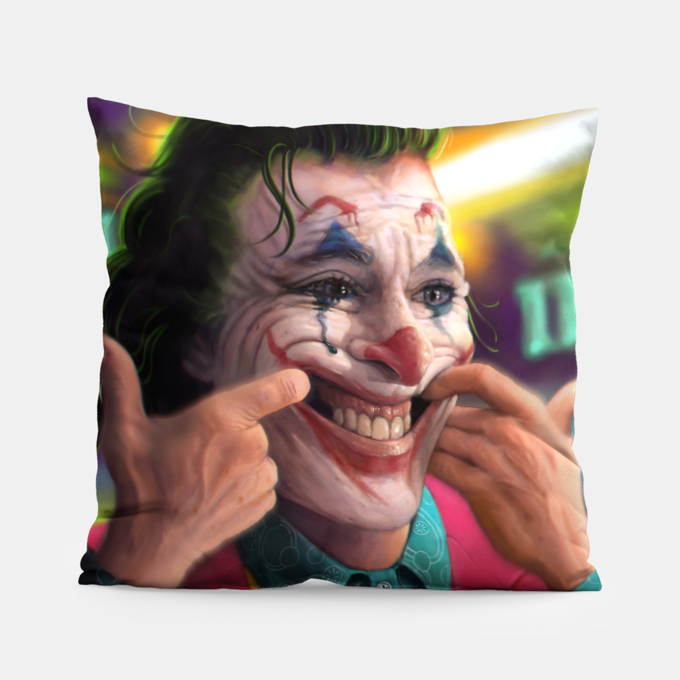 Image of Arthur Fleck  - The Joker Pillow - Live Heroes