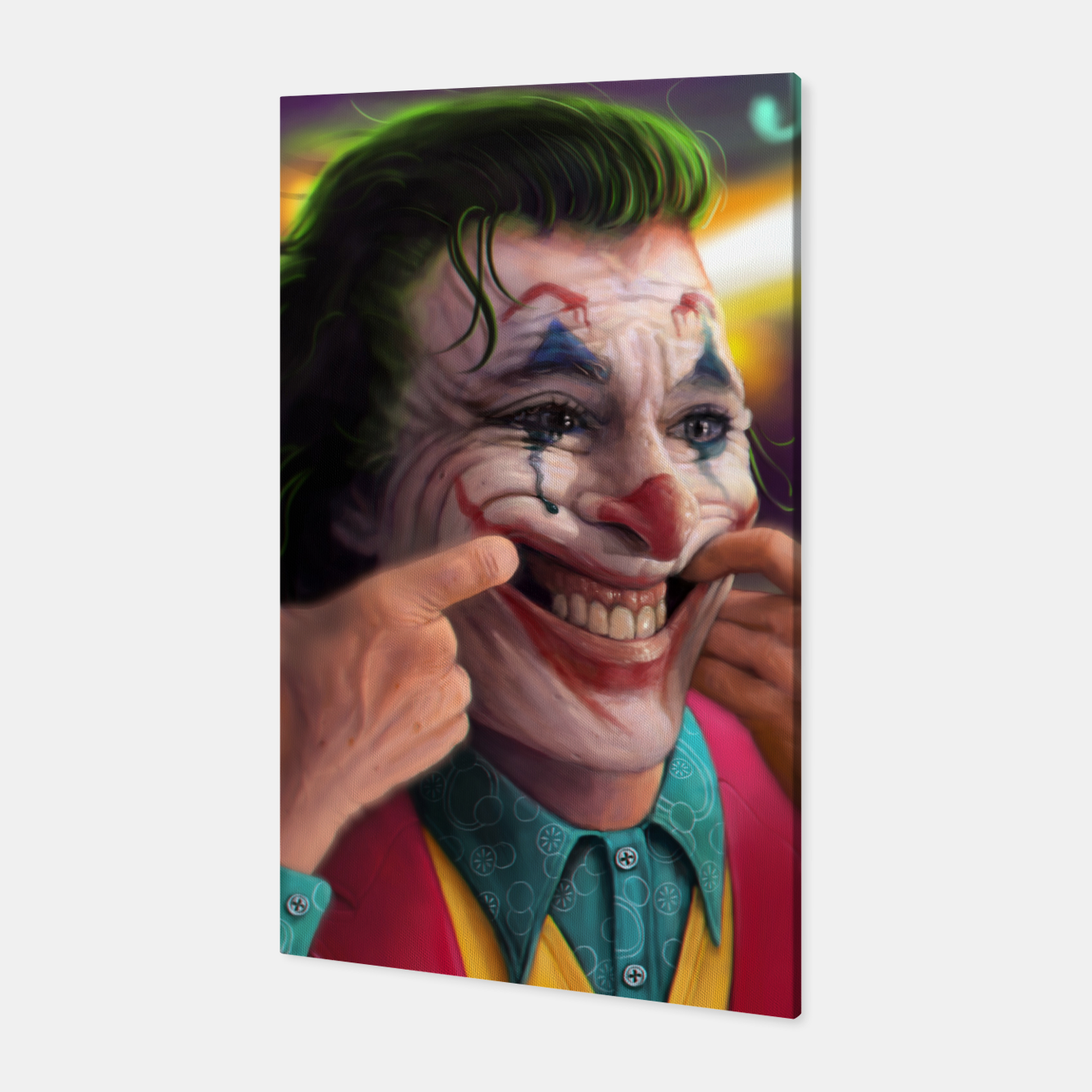 Image of Arthur Fleck  - The Joker Canvas - Live Heroes