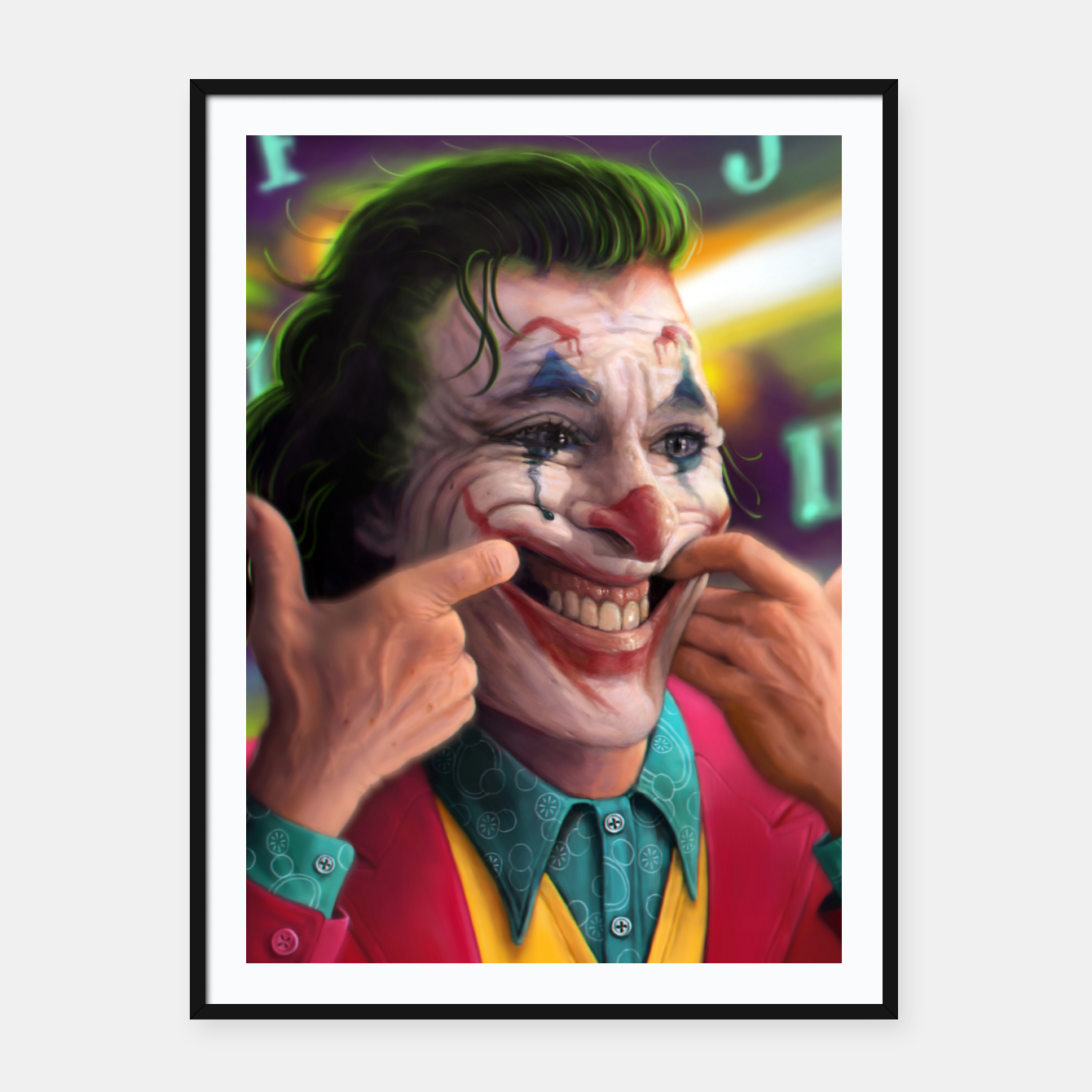 Image of Arthur Fleck  - The Joker Framed poster - Live Heroes