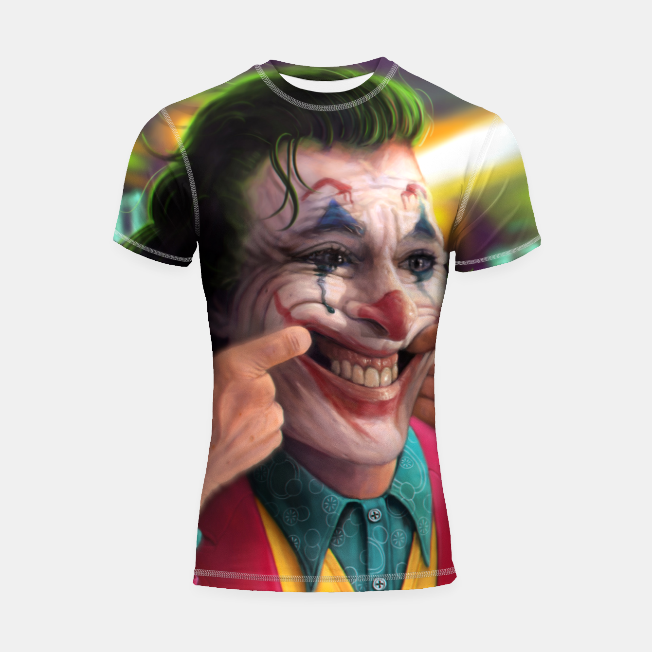 Image of Arthur Fleck  - The Joker Shortsleeve rashguard - Live Heroes