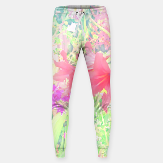 Red lilies in the garden Sweatpants thumbnail image