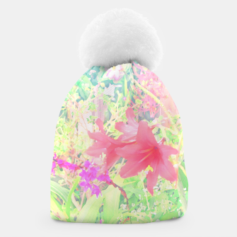 Red lilies in the garden Beanie thumbnail image