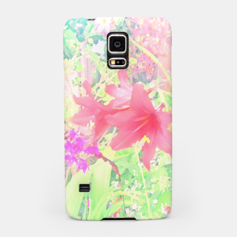 Red lilies in the garden Samsung Case thumbnail image