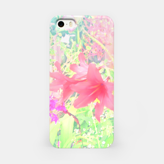 Thumbnail image of Red lilies in the garden iPhone Case, Live Heroes