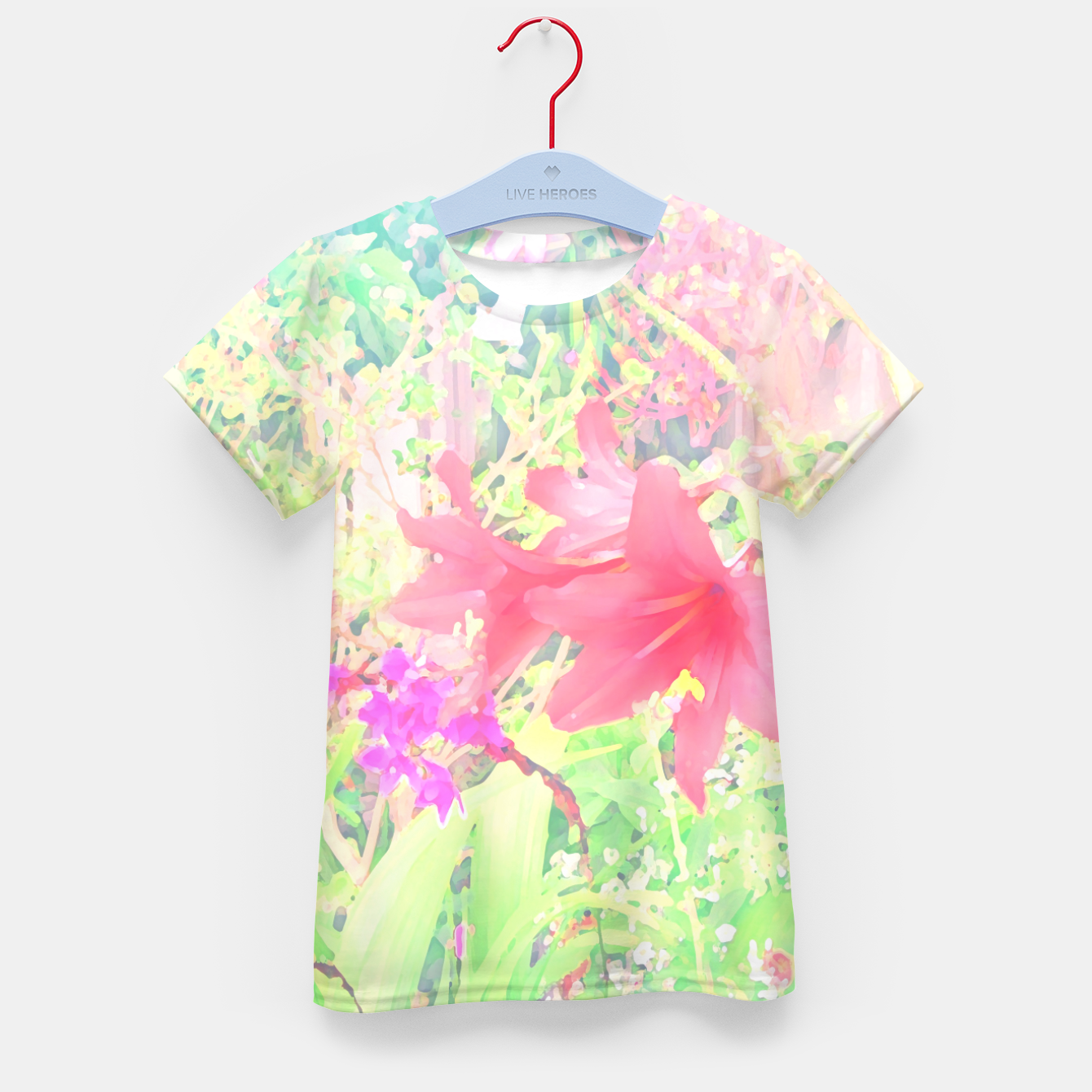 Image of Red lilies in the garden Kid's t-shirt - Live Heroes