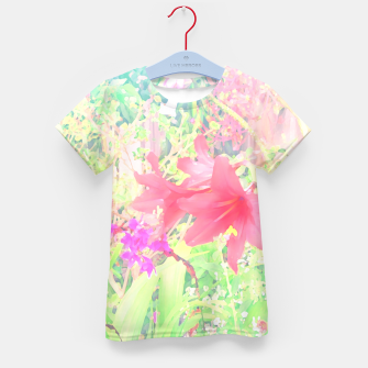 Red lilies in the garden Kid's t-shirt thumbnail image