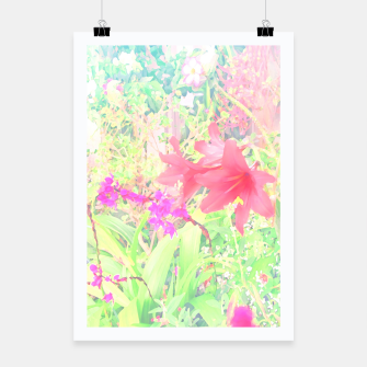 Red lilies in the garden Poster thumbnail image