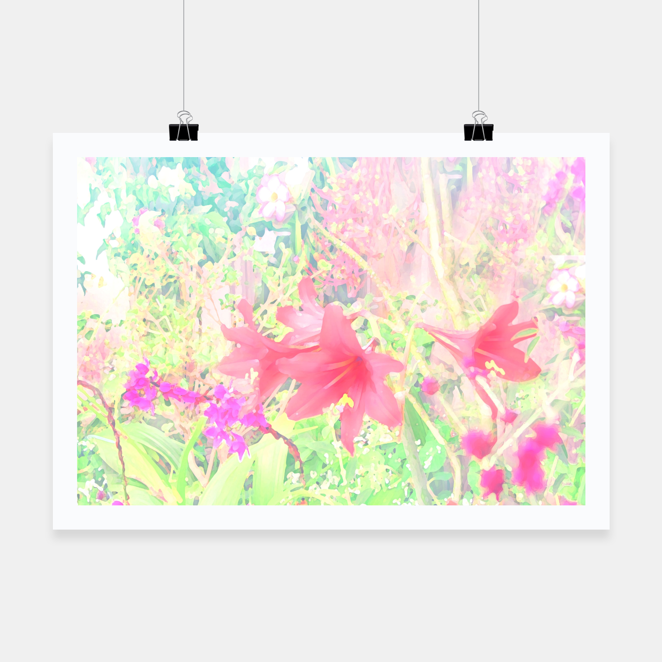 Image of Red lilies in the garden Poster - Live Heroes