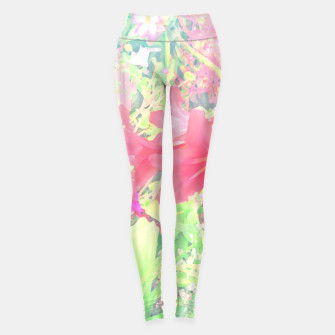 Thumbnail image of Red lilies in the garden Leggings, Live Heroes