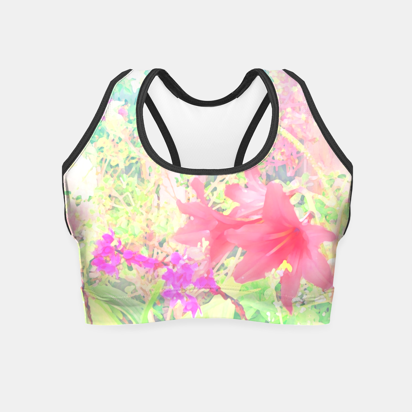 Image of Red lilies in the garden Crop Top - Live Heroes