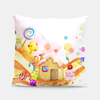 Thumbnail image of Candy House Pillow, Live Heroes