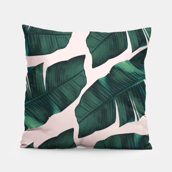 Thumbnail image of Tropical Blush Banana Leaves Vibes #2 #decor #art  Kissen, Live Heroes